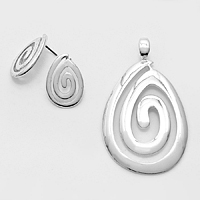 SOLD OUT-Silver Magnetic Droplet Pendant Set