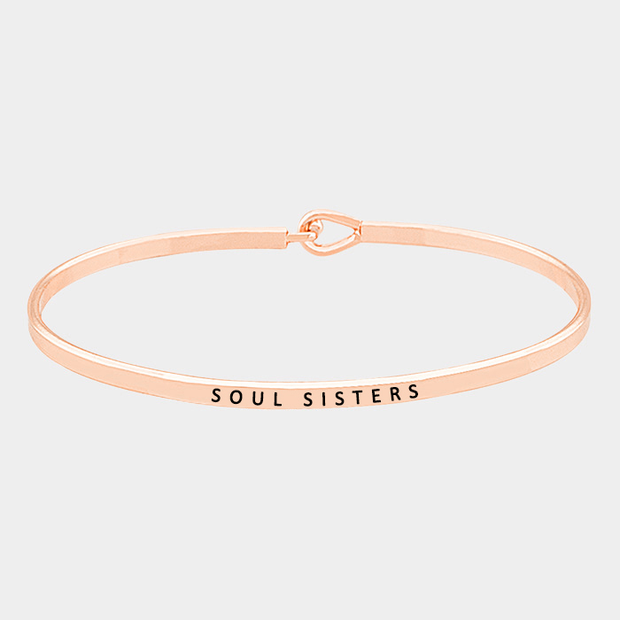 "Rose Gold  ""Soul sisters"" Thin Metal Hook Bracelet"
