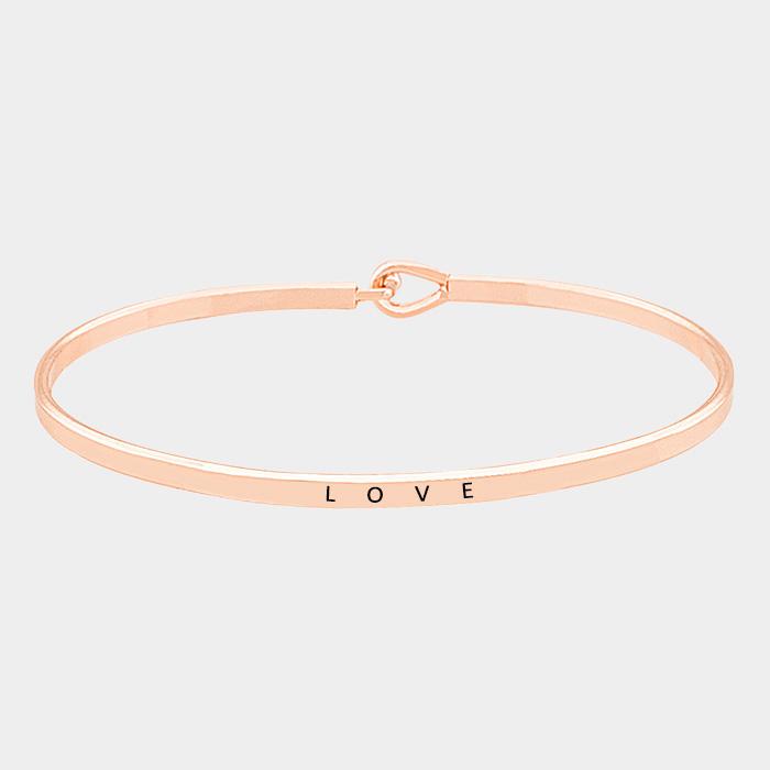Rose Gold Love Knot  Cuff Bracelet
