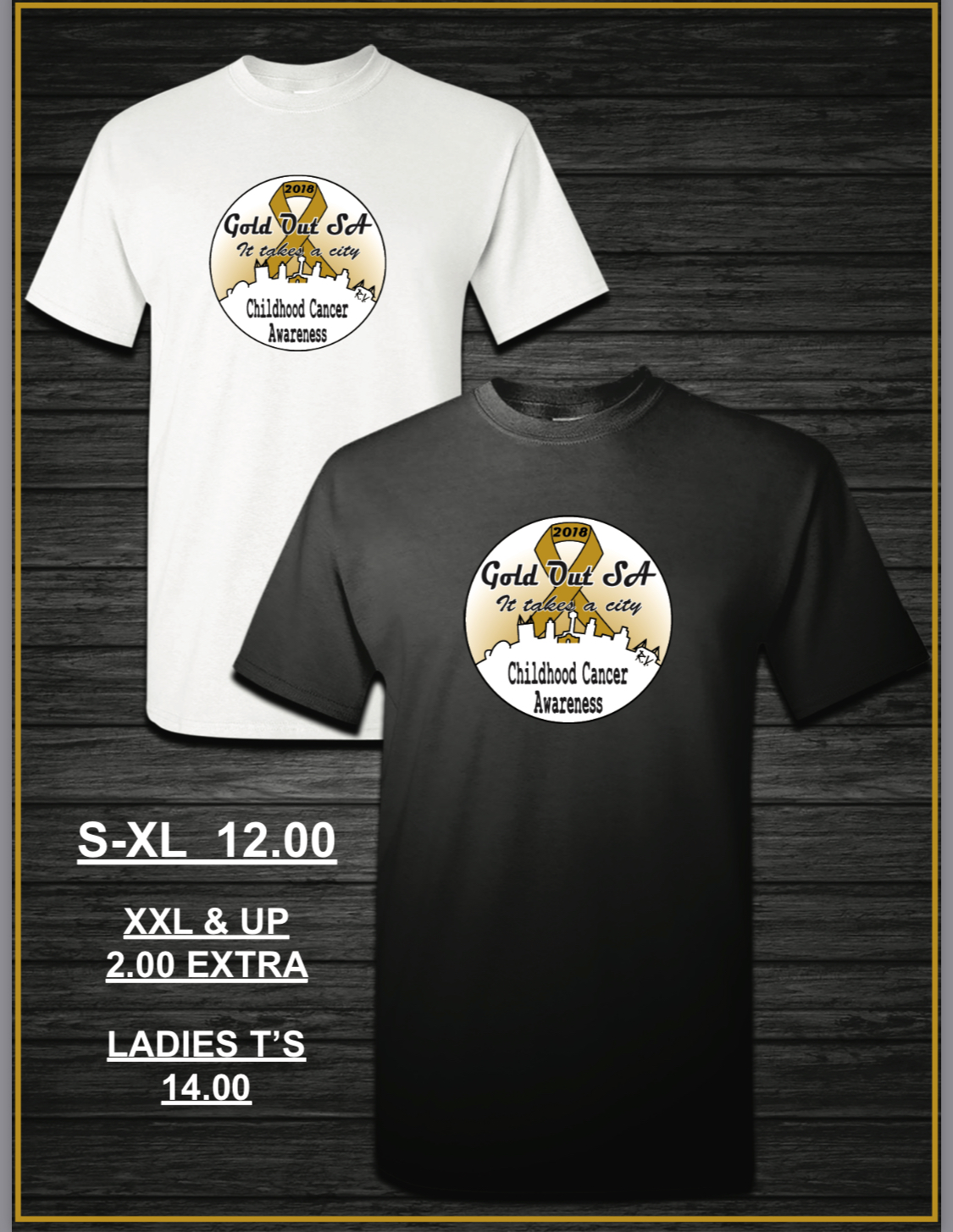Gold Out T-Shirt LADIES V-NECK (White)