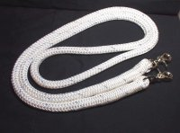 "8' Sport/One Piece Reins with scissor snaps 1/2"" Samson Stable Braid Rope"