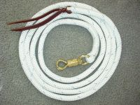 12' Lead Rope with Brass Panic Twist Snap