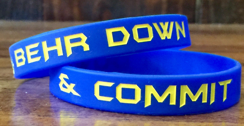 Behr Down & Commit Wristband