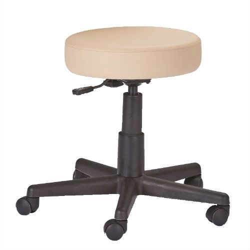 This Adjustable Height Pneumatic Rolling Stool with Beige Padded Seat by Earthlite Massage would be a great addition to your home. These stools were designed for superior ergonomics and the ultimate in comfort.