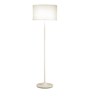 Modern Floor Lamp with White Paper Drum Shade, AOFL124941 :  This Modern Floor Lamp with White Paper Drum Shade will give your living space that fresh, clean look you desire. It has a beautiful hard backed drum shade made of white Japanese paper with a horizontal pattern. It has a powder coat white finish on the lamp body and pole. Has an three-way rotary switch on the socket.
