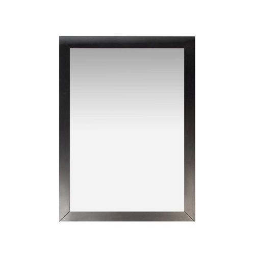 This Modern 22-inch x 30-inch Bathroom Vanity Wall Mirror with Black Wood Frame is made from the finest possible materials and matches our popular Winston black vanities. Can also be used in all areas of the home.