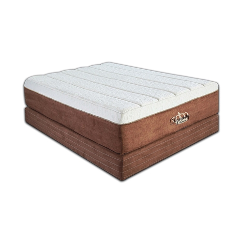 """Introducing the King size 15-inch Thick Memory Foam Mattress - 5lb Memory Foam. Compares to the Tempur-Pedic® the GrandBed. Made of 7.5"""" 5lb visco elastic memory foam and 7.5"""" high resilience polyurethane foam with air flow system to help keep mattress temperature low. Each layer is uniquely designed and positioned to provide a plush sleep surface, durability, support and a total comfort experience. Three layers of polyurethane foam are covered by four layers of memory foam. Responds to your body's temperature and contours to your body's shape to minimize pressure points and reduce tossing and turning. The beautiful and luxurious cover combines a brown suede side fabric with a stretch knit on top. The mattress is channel quilted with a gold braided piping around the perimeter completing the design. Don't be fooled into buying a brand name product for no reason. Our mattress is guarantee to feel and perform the same or your money back. Memory foam mattresses are the most popular mattresses we sell. Allergen and dust-mite resistant! No assembly required, mattress is rolled and compressed for shipping. The mattress will conform to its proper size within 1 - 2 hours. Mattress only! Foundation and bed frame not included. Heights are approximate."""