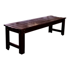5-Feet Backless Outdoor Garden Patio Cedar Wood Bench in Burn Brown, SHB239518 :  This 5-Feet Backless Outdoor Garden Patio Cedar Wood Bench in Burn Brown will enhance the beauty of any decor. The rounded seat makes this bench ultra comfortable. You can't go wrong. Use of polyurethane paint for protection against weather, heat and sunlight; Rust resistant hardware; Assembles in approximately 20 minutes; Functional and practical to use indoors or outdoors.