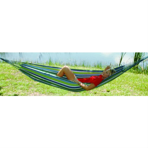 Multicolored Stripes Comfortable Cotton Hammock 40 x 120 inches, TLPH1699 :  Texsport introduced its popular Padre Island hammock nearly 25 years ago, and the company has continued to offer quality, durable hammocks and stands at reasonable prices. This Multicolored Stripes Comfortable Cotton Hammock 40 x 120 inches is made of cool, comfortable cotton in a multicolored pattern. It measures 40-by-120 inches (W x D), with a 75-inch bed length, and has a 300-pound weight limit. The hammock comes complete with a carrying and storage bag.