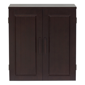 Dark Birch Wood Finish Bathroom Wall Cabinet, CDBWC5899 :  This Dark Birch Wood Finish Bathroom Wall Cabinet is casual and sophisticated wall cabinet from Covington features a composite wood and birch veneer construction with a two-shelf storage compartment. A dark birch finish completes this bathroom cabinet.  Number of shelves: Two; Number of doors: Two.