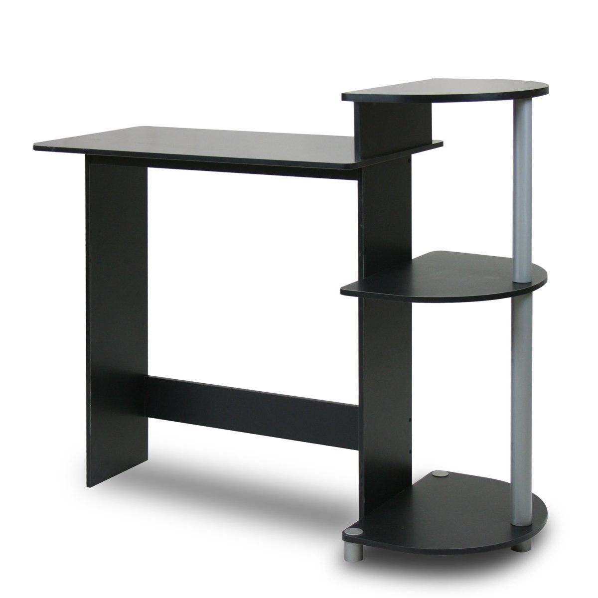 This Contemporary Computer Desk in Black and Grey Finish is designed for space saving and modern stylish look. The materials comply with e1 grade particle board for furniture. There is no foul smell of chemicals, durable and it is the most stable particleboard used to make rta furniture. Care instructions: wipe clean with clean damped cloth. Avoid using harsh chemicals. Please contact support@furinno for missing parts, damaged goods, or other questions. We are pleased to send you the replacement part free of charge. Pictures are for illustration purpose. All decor items are not included in this offer. Pictures are for illustration purpose. All decor items are not included in this offer.