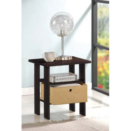 This Espresso End Table Nightstand for Bedroom or Living Room is a very simple and basic design that fit into a modern stylish lifestyle. . Easy assembly, light weight, yet looks refreshing, is suitable for any room. The materials comply with e1 grade particle board for furniture. There is no foul smell of chemicals, durable and it is the most stable particleboard used to make RTA furniture. All the products are produced and assembled 100-percent in Malaysia. Care instructions: wipe clean with clean damped cloth. Avoid using harsh chemicals. We are pleased to send you the replacement part free of charge. Pictures are for illustration purpose. All decor items are not included in this offer. Pictures are for illustration purpose. All decor items are not included in this offer.