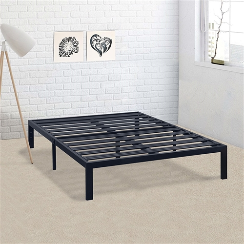 Best Price Mattress promises and always strives to make best nights sleep more affordable so everyone can get the sleep quality they deserve and desire. This California King Metal Platform Bed Frame with Heavy Duty Slats is the perfect solution of the modern minimalists seeking sturdy and durable mattress support! Featuring SUPER STRONG STEEL SLATS, our steel platform bed frames are unbeatable in its strength, stability and level support. Plus, these reliable steel slats also serve to prevent mattress from sagging and enhance mattress life. It also features additional legs (compared to other existing metal frames) and points of contact from floor, giving it additional stability and support. SMARTLY ENGINEERED AND SHIPPED Powered by our relentless innovation in product development, we are able to efficiently package our bed frame and ship it out in a box right to your door. So, all you have to do is lift a finger and click. MORE STYLES AVAILABLE! Best Price Mattress offers a variety of mattress sizes and types including gel and traditional spring mattress. We have also begun our journey in bed frames with 100% super sturdy steel construction to bring you Premium box springs and bed frames that require no to minimal assembly that are again, more affordable and accessible.