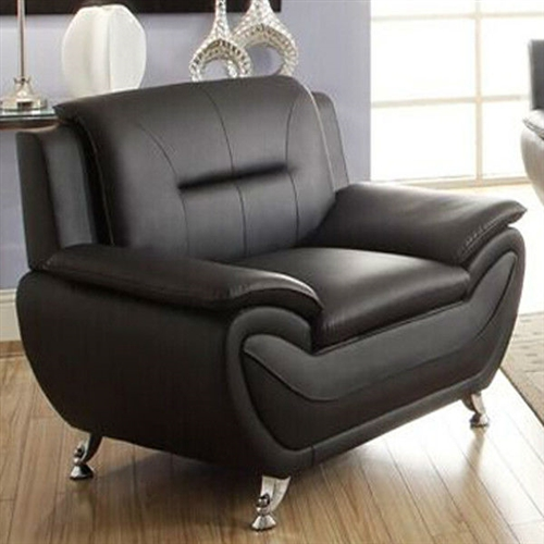 \\This Stylish Living Room Modern Black Faux Leather Arm Chair Medium Firm brings not only the comfort but also the value to your living room. Well designed style, upgraded materials, modern design, you get everything you need for your living room. Compact design for limited spaces, you are going to create a cozy environment for your family. Removable Seat Cushion: No; Assembly Required: Yes; Upholstery Material: Faux leather; . Faux Leather Type: PU; Leg Material: Metal.