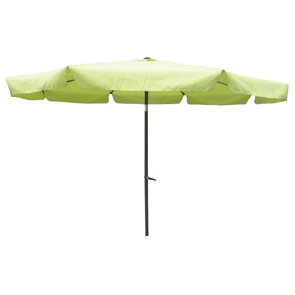 Lime Green 10-FT Drape Umbrella with UV Resistant Canopy, IC10DU7595 :  This Lime Green 10-FT Drape Umbrella with UV Resistant Canopy would be a great addition to your home. It has an aluminum pole and waterproof canopy fabric. 8 rib canopy; Waterproof canopy fabric; Foldable and easy to move; Weather Resistant Details: Weatherproof polyester fabric; Umbrella Type: Drape; Powder Coated Finish: Yes; Canopy Material: Polyester; Canopy Shape: Round; UV Resistant: Yes; Rust Resistant: Yes; Fade Resistant: Yes; Lift Method: Crank lift; Number of Canopy Ribs: 8; Tilt: Yes.