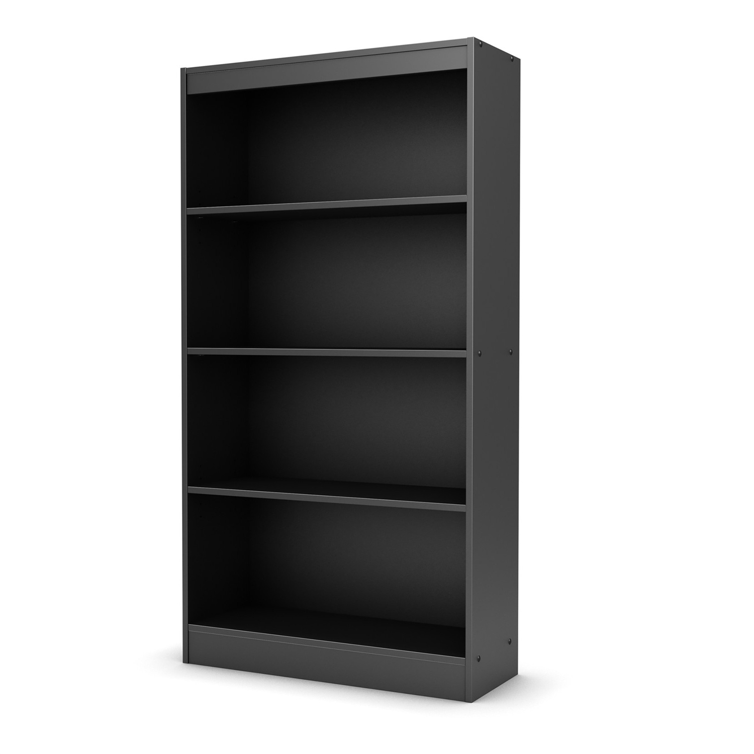 "With both functional and attractive this Four Shelf Eco-Friendly Bookcase in Black Finish is sure to enhance the look of any room in your home. Its warm finish and refined lines harmonize seamlessly with virtually any decor. Ideal for your binders, books or decorative items; This versatile bookcase can meet your every need; Shrink wrapped packaging with reinforced corners to reduce the risk of shipping damage; Features a contemporary style; Features 2 fixed shelves and 2 adjustable shelves; South Shore Industries Ltd. provides the original buyer with a warranty covering ""defects"" on furniture parts and workmanship for a period of 5 years from the date of purchase."