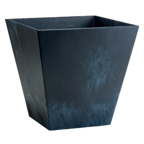 Contemporary 12-inch Square Planter in Black Plastic, CP1284195 :  This Contemporary 12-inch Square Planter in Black Plastic has a squared contour, that brings a modish new twist to the artstone line. Durable in strength, it always makes an impact in any decor. Available in black color. Measures 12-inch length by 12-inch width.