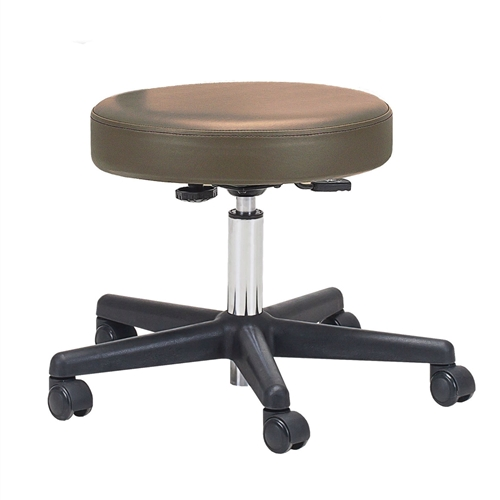 This Adjustable Height Pneumatic Rolling Stool with Brown Padded Seat by Earthlite Massage would be a great addition to your home. These stools were designed for superior ergonomics and the ultimate in comfort.