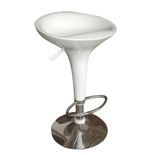 This Razzle Ice Cream Scoop Style Modern Bar Stool Chair in White is very stylish and durable. Made of fiberglass with chrome base and is very popular in ice cream stores, restaurants, and at offices and homes.