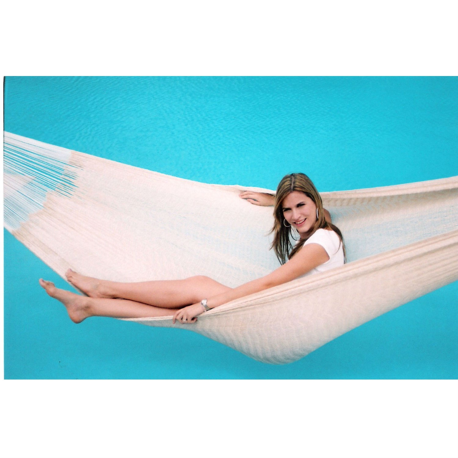 13-FT Long Handmade Yucatan Style Hammock in Natural Beige Color, HRYN6396 :  This 13-FT Long Handmade Yucatan Style Hammock in Natural Beige Color would be a great addition to your home. Our artisan-crafted hammock envelops your body for ultimate comfort. Lay lengthwise or horizontally for your desired level of comfort and support. Even makes a great alternative to traditional mattresses! Our Rada Hammocks are hand-woven for years of durability; Beautiful natural beige color. Holds up to 550lbs. 13ft Long; Great for naps, siestas or even all night.