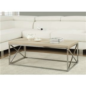 High on style and functionality, this Modern Rectangular Coffee Table with Natural Wood Top and Metal Legs is a must have for every contemporary style home. Just place it in front of your sofa or settee and be sure to be surrounded by compliments from friends and family. This beautiful coffee table is carefully crafted with solid hardwood and poplar veneer that ensure a long lasting performance. As this wooden table belongs to this, it touts of a sturdy construction. It has an X-cross stretcher below that adds to the character of this coffee table. Furthermore, the coffee table comes with floor protectors to ensure that both the floor and the table are not harmed due to the daily wear and tear. The coffee table is rectangle in shape and can be used to serve a large variety of your beautiful cooking creations to visitors and family members. To keep the table clean and new, you need to wipe it with a damp cloth and a mild soap. Do not use any chemical cleaners or glass cleaners on finish, because this way the finish can break down and your table will lose its luster. Also, be careful with the commercial cleaners and follow all manufacturer instructions. You should even test the cleaners in a small inconspicuous area first and see the results. This coffee table is so you can choose the one that is sure to mingle well with your home interiors.