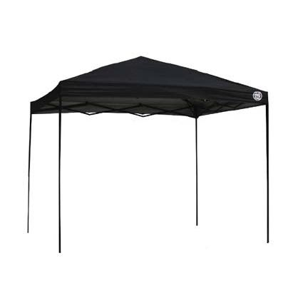 10-ft x 10-Ft Lightweight Sun Shade UV Protection Canopy in Black, BSC1438915 :  This 10-ft x 10-Ft Lightweight Sun Shade UV Protection Canopy in Black gives you an instant canopy at a cost conscious price. Comfortable shade that fits into your budget! Features a one piece fully assembled frame, durable steel construction and aluminum backing on top blocks out 100% of UV rays. Padded push pin sliders and bearings for easier operation. Perfect for backyard, park or sporting events. Great for 8-12 people, 100 sq. ft. of shade.  Four height adjustments available with the lightweight; Durable corrosion resistant powder-coated steel frame; Lever tab activated push pins for more comfortable use; Wheeled carry bag so you can easily take it anywhere; 4 sturdy ground stakes included to securely anchor to grass if needed.