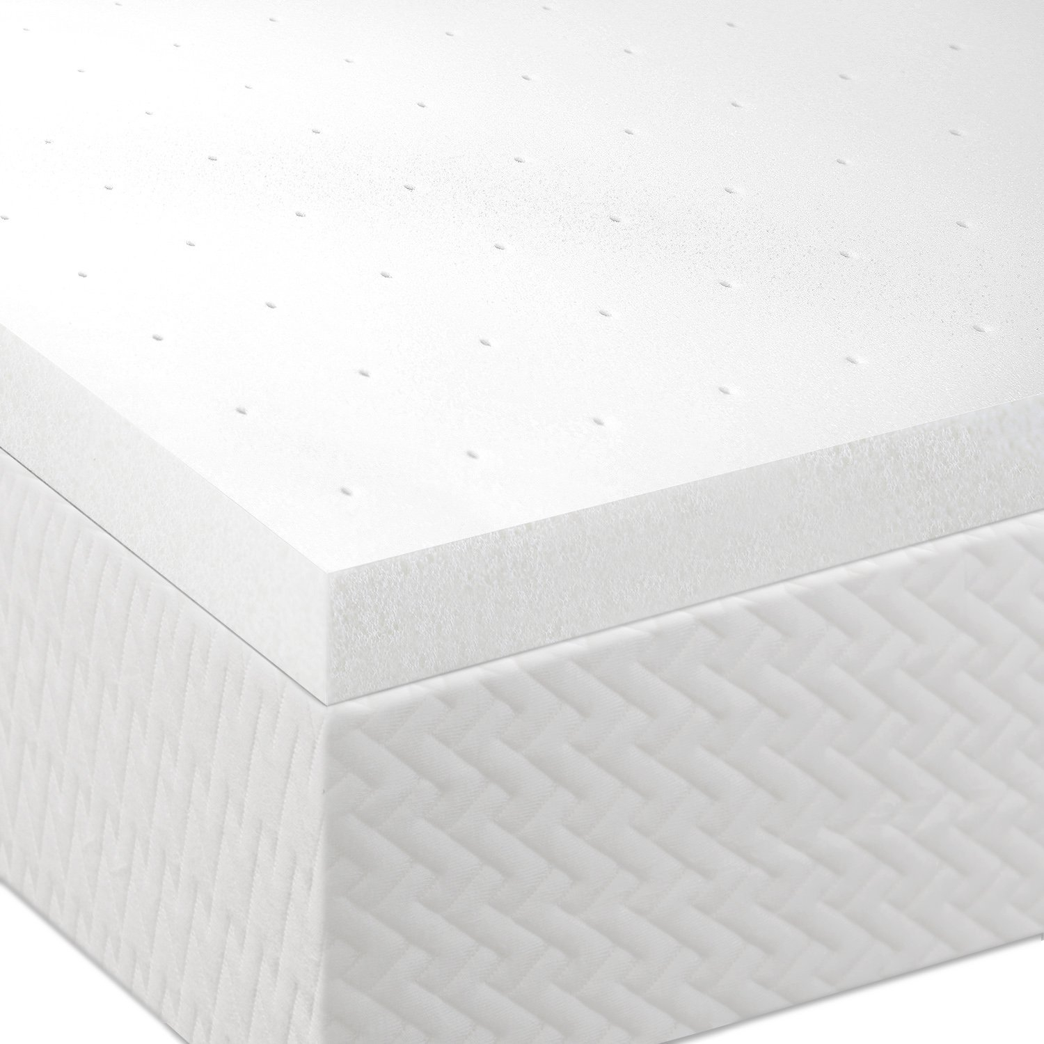 Want a way to bring new life to your mattress without killing your wallet? This Queen size 2-inch Thick Memory Foam Mattress Topper is the perfect solution because it will give you most of the benefits of having a new mattress at only a fraction of the cost. Lucid's memory foam creates a comfort layer will help relieve neck, back and shoulder pain as it cradles and supports your body's natural pressure points. The memory foam works through the night to correctly align your spine, improving your posture and preventing lower back pain. The ventilated memory foam optimizes air flow to keep you cool for a comfortable sleep.
