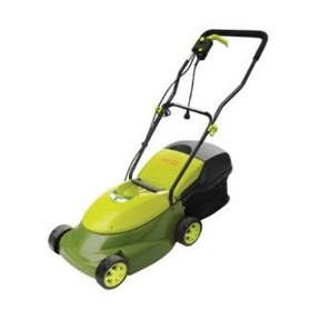 "14-inch Mow Joe 12-Amp Electric Lawn Mower with Grass Bag, SJM1412AELMGB :  This 14-inch Mow Joe 12-Amp Electric Lawn Mower with Grass Bag is Responding to the need for an easy-to-use machine that takes care of the smaller yards, Sun Joe developed the Mow Joe MJ401E, a smaller electric lawn mower that delivers the power of a gas machine with the convenience of an electric unit. Its durable steel blade cuts 14"" wide with precision on each pass. In addition to its hard-working mowing capacity, the Mow Joe features a three position manual height adjustment. The Mow Joe is equipped with a hard top rear bag, which detaches easily for convenient disposal. No gas, oil, or tune-ups are necessary. The unit is ETL-approved and carries a full two year warranty. Three-position height adjustment up to 2-2/5 inches; Compact design is easy to maneuver and takes up less storage space."