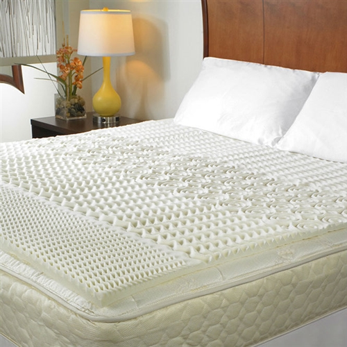Keep your body relaxed and healthy with this Queen size 1.5-inch Thick Memory Foam Mattress Topper. Its cream-colored surface features an assortment of attractive designs. This memory foam topper comes in handy when you want to add an extra layer of comfort to your bed to cure those pressure points that cause tossing and turning. The foam also relieves therapeutic pressure, which gently molds into the shape of your body. The memory foam topper is available in a large variety of sizes that you can choose from. Made from 100% synthetic polyurethane, the Queen size 1.5-inch Thick Memory Foam Mattress Topper is durable and lasts for many years. Helps to alleviate motion transfer so both you and your sleep partner will sleep more soundly; Topper can be placed right on top of your existing mattress and never needs turning; Foam Density: 3.