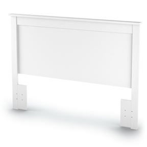 This Full / Queen size Headboard in White Finish has simple and elegant lines. This headboard is made of recycled CARB compliant particle panels. It has to be assembled by two adults. Measures 65-Inch wide by 3-Inch deep by 46-Inch high. This headboard is delivered in one box measuring 69-Inch by 24-Inch by 4-Inch and weights 41 pounds. Manufactured from CARB compliant composite wood carrying the Forest Stewardship Council (FSC) certification.