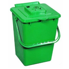2.4 Gallon Kitchen Composter Compost Waste Collector Bin - Green, E24GKCW1999 : This 2.4 Gallon Kitchen Composter Compost Waste Collector Bin - Green will be a great addition to your home. Making your own compost starts in the kitchen by collecting all your organic waste and adding it to your outdoor composter. As much as 30% of household waste can be composted and should not be sent to a landfill. Composting is the answer and using the Kitchen Compost Collector is a most practical way to collect all of your organic waste. This kitchen waste collector is made from high density polyethylene and includes a carbon filter that significantly reduces any organic smells. Convenient handle lets you carry waste directly to outside composter and is dishwasher safe. Replacement carbon filters available.
