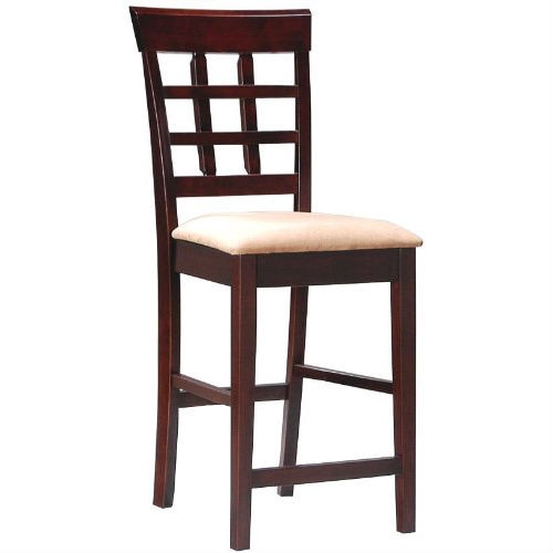 """This Set of 2 - Counter Height Kitchen Dining Bar Stool Chairs would be a great addition to your home. Set of 2 Contemporary Style Cappuccino Finish Bar Stools. Dimensions: 17""""W 20""""D 41""""H.Finish: Cappuccino. Material: Wood. Set of 2 Contemporary Style Counter Height Bar Stools. Item is finished in rich cappuccino.Matching counter height dining table is sold separately."""