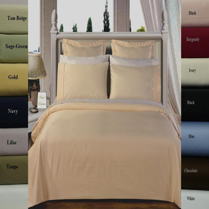 Egyptian Cotton 450 Thread Count Solid Duvet Covers Set. Incredible quality and absolute luxury! This luxury 450 Thread count Egyptian cotton Solid duvet cover collection is sure to please anyone, combining the highest quality fabric with simplicity. Machine washable.