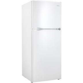 """This 12.3 Cubic Foot Frost-Free Refrigerator with Top-Mount Freezer in White would be a great addition to your home. Features: -Apartment size. -Color: White. -Environmentally friendly R600a refrigerant. -Frost free operation provides hassle free maintenance and, improved food preservation. Product Type: -Top freezer refrigerator. Finish: -White. Number of Items Included: -1. Drawers Included: -Yes. Refrigerator Capacity: -12.3 Cubic Feet. Generic Dimensions: -2 Full width and 1.5"""" width wire shelves for maximum, storage versatility. Specifications: Energy Star Compliant: -Yes. Dimensions: Overall Product Weight: -143.3 Pounds. Overall Height - Top to Bottom: -59.81 Inches. Overall Width - Side to Side: -23.81 Inches. Overall Depth - Front to Back: -30.38 Inches."""