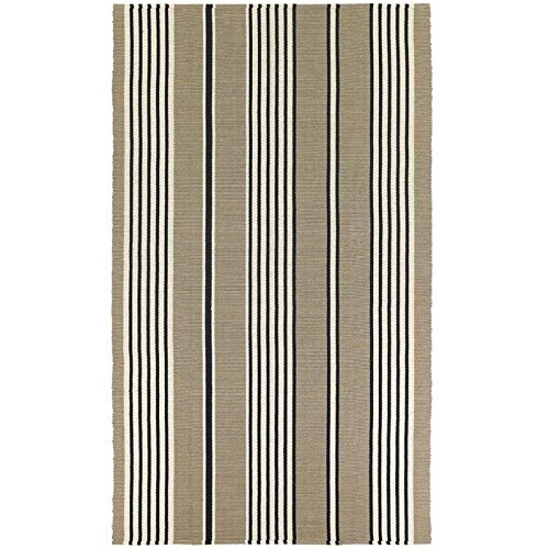 3' x 5' White Brown Black Stripe Area Rug, CBHR39015 :  For a relaxed-casual look that instantly creates an atmosphere of welcoming fun, 3' x 5' White Brown Black Stripe Area Rug delivers a cheery array of striped designs that infuse any interior with a refreshing verve. Perfect for homes with a coastal living design influence, these bright and bold fashions add an exciting pop of color that enlivens spaces and brings a sense of charm. With whimsical names, like Lollipop, Lemon Drop and Gelato, decorators are sure to find a sweet spot for all nine. Flat woven of soft 100 percent cotton, area rugs are both reversible and machine-washable, making them an ideal selection for busy areas of the home such as kitchens, dining areas and even kid's rooms. Hand-woven with all-natural materials, these biodegradable rugs also have an eco-chic appeal and can be incorporated into homes with a 'green' theme. Featuring a high-quality construction, this is crafted with a heavy weight to ensure that the rugs lie flat and do not curl at the ends. These Rugs Pass All U.S. Flammability Standards.