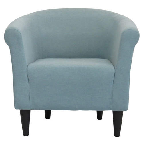 Classic style elements with a contemporary twist make this Light Blue Upholstered Contemporary Classic Living Room Accent Chair a great addition to almost any room. The Light Blue Upholstered Contemporary Classic Living Room Accent Chair is made with quality, comfort and modern style in mind. Embellish your room with the clean lines and contemporary materials. Durable construction; Made in the USA; Upholstered with a soft tweed fabric; Chair Design: Club chair; Style: Modern; Upholstery Material: Polyester/Polyester blend.