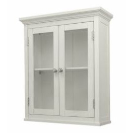 Classic 2-Door Bathroom Wall Cabinet in White Finish, CWWC2D6205 :  This Classic 2-Door Bathroom Wall Cabinet in White Finish will add an attractive storage space to any bathroom. Also, it provides much-needed room for toiletries and towels. Cabinet provides much-needed room for toiletries and towels; Piece is made of sturdy MDF.