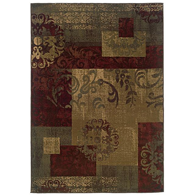 Dark Green Geometric Floral Stylish Area Rug (8'2 x 10'), GGR82X10 :  Striking geometric patterns highlight this Dark Green Geometric Floral Stylish Area Rug (8'2 x 10'). This area rug features a durable construction with shades of green, red, beige, gold and slate blue colors. All rug sizes are approximate. Due to the difference of monitor colors, some rug colors may vary slightly. We try to represent all rug colors accurately. Please refer to the text above for a description of the colors shown in the photo. Tip: We recommend the use of a non-skid pad to keep the rug in place on smooth surfaces. Style: Traditional; Pattern: Geometric; Made in USA.