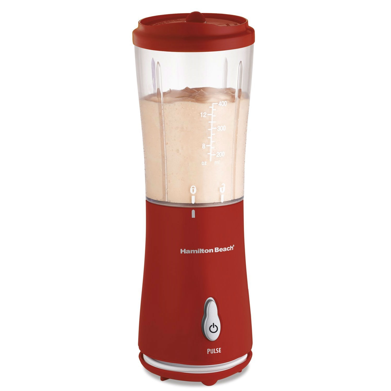 Rushing through breakfast or skimping on your health with vending machine drinks is no way to start out the day or live a healthy lifestyle. Instead, invest in a personal-size blender that makes it easy to have a nutritious beverage on the go. That's right, this 175-Watt Single Serve Personal Blender in Red with Clear BPA Free Jar delivers all the delicious-tasting flavors of restaurant smoothies and frozen drinks at a fraction of the price. What's more, this little blender lets you personalize your recipes, perfect your mixology skills and control your portions, all in one. With its durable stainless steel blades and pulse blending action, it's fully equipped to prepare a variety of great-tasting smoothies, shakes and more. Don't let its space-saving design fool you. The versatile blending container functions as a mixing jar one minute and doubles as a portable travel mug with attachable drinking lid the next. For a lightweight, easy-to-use, inexpensive personal blender, the blender is well worth the investment. Just imagine all the recipe possibilities, extra storage room and money you're saving.