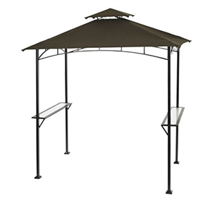 "Outdoor Patio Lawn Grilling Gazebo with Steel Frame and 2 Shelving Units,  LASG2681581 :  This Outdoor Patio Lawn Grilling Gazebo with Steel Frame and 2 Shelving Units would be a great addition to your home. Size : 96.06"" x 59.84"" x 102.36"" Steel frame with powder-coated finish 2 built-in shelving units Easy assembly Fabric top No netting."