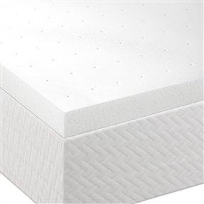 Want a way to bring new life to your mattress without killing your wallet? This King size 2-inch Thick Memory Foam Mattress Topper is the perfect solution because it will give you most of the benefits of having a new mattress at only a fraction of the cost. Lucid's memory foam creates a comfort layer will help relieve neck, back and shoulder pain as it cradles and supports your body's natural pressure points. The memory foam works through the night to correctly align your spine, improving your posture and preventing lower back pain. The ventilated memory foam optimizes air flow to keep you cool for a comfortable sleep.