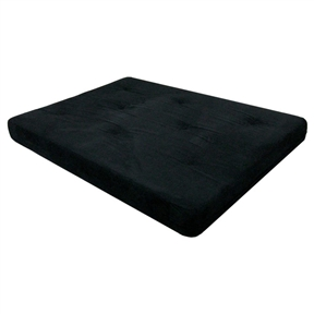 Full-size 6-inch Thick Futon Mattress with Black Microfiber Futon Cover. Experience the ultimate in mattress style comfort with this Full-size 6-inch Thick Futon Mattress with Black Microfiber Futon Cover. It features independently encased coils, foam and polyester layers and a soft microfiber cover.