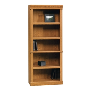 This Open Bookcase in Carolina Oak Finish is an American classic using up to date quick and easy assembly. Build a beautiful wall unit by sitting along side the library with doors. The warm oak finish will complement the existing décor of any home.