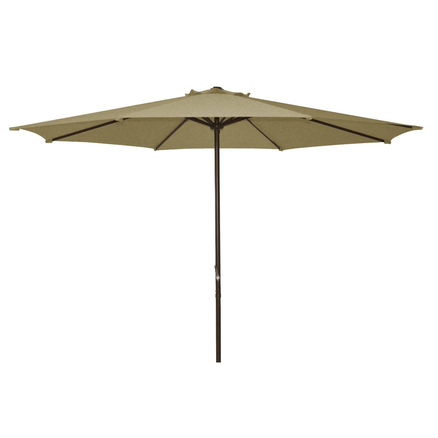 9 Foot Patio Umbrella With Beige Polyester Fabric Shade, ABSU45019F : The 9  Ft Polyester