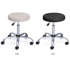 This Adjustable Height Vinyl Upholstered Medical Stool is upholstered in durable Caressoft vinyl for easy maintenance and cleaning. Also, features a Adjustable seat height with a 6-inch vertical height range. Attractive chrome finish on the base and gas lift; Six-year limited manufacturer's warranty; Available in black or beige color options; Ships ready to assemble.