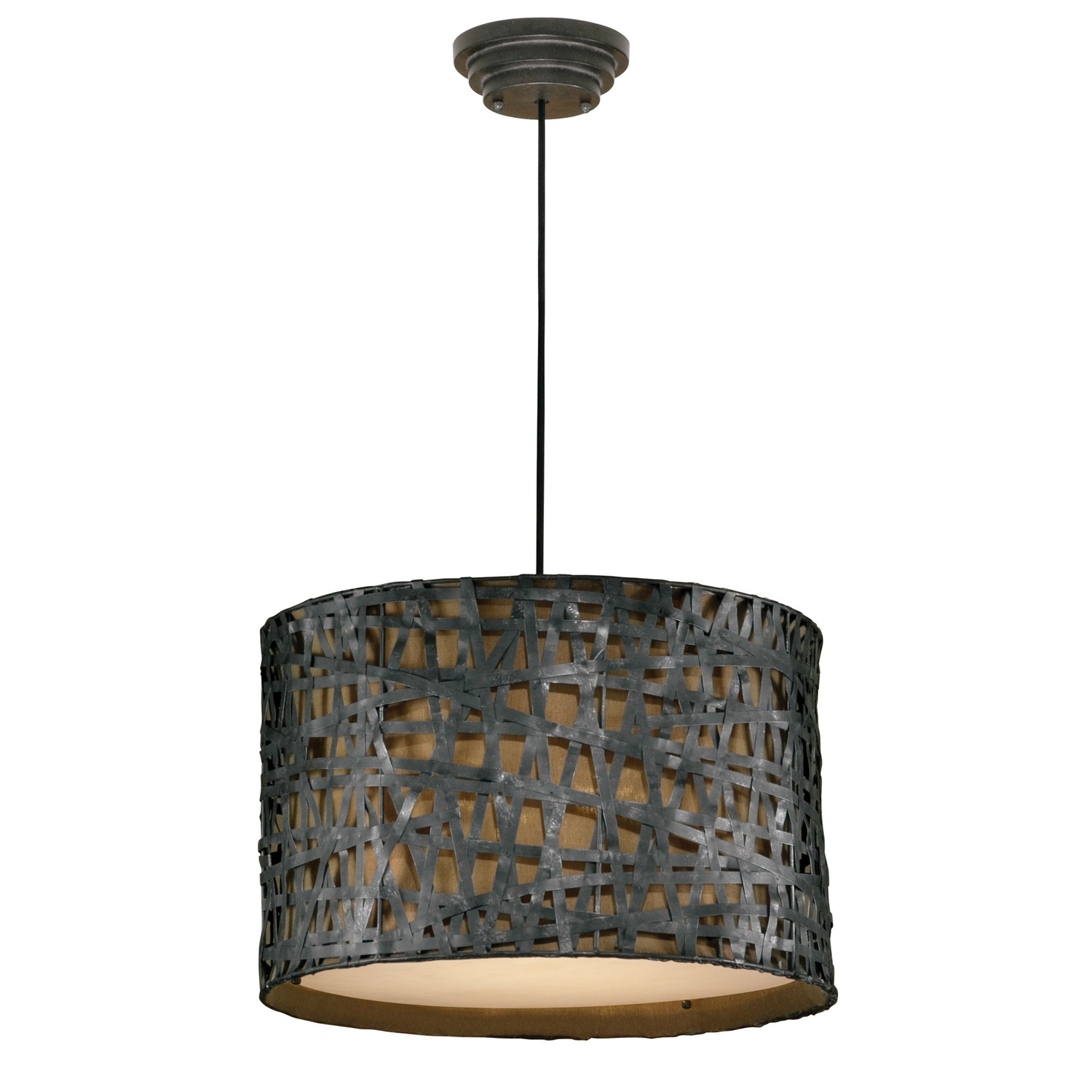 Relaxed and light, this Rust Black Modern 3-Light Drum Style Foyer Pendant Ceiling Light is a smart choice for the home that is about comfort and quiet style. The fixture will provide your home with light fixtures that are made from unique materials. Shade Material: Metal; Finish: Black; Swarovski Crystal: No; Lens Included: No; Bulb Type: Incandescent; Bulb Shape: A; Transformer Required: Yes; Number of Lights: 3; Number of Tiers: 1; Swag Light: No; Bulb Included: No; Dimmable: Yes. Connection: Junction box; Voltage: 110 Volts (V); Wattage per Bulb: 60 Watts (W); Product Care: Dust with a clean, soft, dry cloth. Do not use abrasives. Country of Manufacture: China.  Assembly Required: Yes; Product Warranty: 1 year; Energy Star Compliant: No; Damp, Dry or Wet Location Listed: Dry; UL Listed: Yes; cUL Listed: Yes.