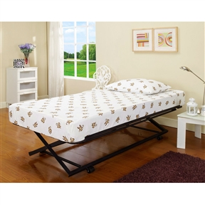 "Twin size Pop Up Trundle for Day Beds or Guest Bed: Product Code: KBTD51814 : This Twin size Pop Up Trundle for Day Beds or Guest Bed perfect for Guest Bedrooms and Kids Beds. Dimensions: Length: 72"" Width: 39""; The mattress is not included"