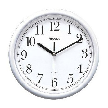 "10-inch White Plastic Wall Clock, 10WPWC953 :  This 10-inch White Plastic Wall Clock would be a great addition to your home. Advance&tmreg., Tradition10"", 10"", Round, White Plastic Wall Clock,White F ace, Accurate Quartz Movement, Second Hand Step Movement, Requires AA Battery Not Included, 2 Year Limited Warranty, Shrink Wrapped Display Carton."