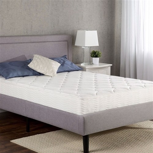 This Queen size 8-inch Pocketed Spring Mattress features hundreds of independent iCoils providing customized support while minimizing motion transfer for uninterrupted sleep. The Foam and Fiber Quilted Cover adds conforming comfort and the support for the mattress comes from the 7.5 Inch iCoil Pocketed Springs . The Queen size 8-inch Pocketed Spring Mattress mattress offers exceptional support, keeping you aligned and pressure free for a great night's sleep. Please open your mattress package within 72 hours of receipt and allow 48 hours for your new mattress to return to its original, plush shape. Another comfort innovation from Zinus. Pioneering comfort.