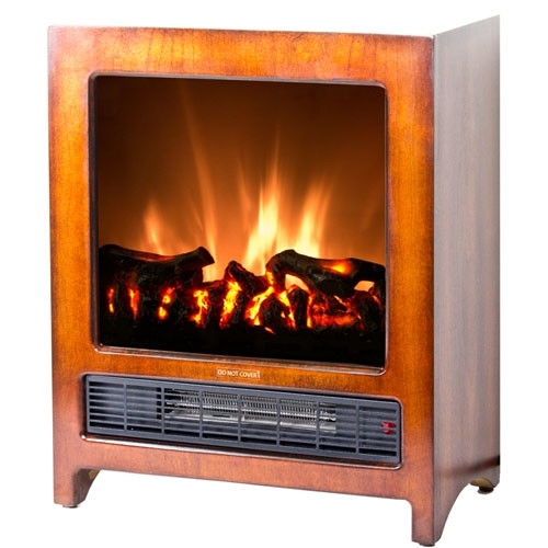 Modern Freestanding Electric Fireplace Space Heater, KFEF15823 :  This Modern Freestanding Electric Fireplace Space Heater gives your living space a classic touch. This intelligently designed fireplace offers portability that brings instant warmth and comfort to any room with its dual heat settings. The realistic flame effect, which works with and without heat, compliments any home décor all year-round. You can continue to enjoy the beauty and glow of the flames even when you don't need the heat. The fireplace has a built-in automatic overheat protection that puts you at ease during unexpected power fluctuations and accidental vent blockage. No assembly or additional hardware needed simply plug and heat. Plus, with the cool touch housing, this thoughtfully stylish designed, rich fireplace is a must-have for every home.  Kingston floor standing electric fireplace with classic real wood finish heats up to 350 sq. ft. Dual heat settings (675 Watts/2300 BTU; 1350 Watts/4600 BTU) offers flexibility to choose your heating preference; Voltage: 120 V Volts (V); Amperage: 12.5 Amps Amps.  Realistic logwood flame effect; Flames do not include realistic crackling sound; Portable design so you can move the unit from room to room; Gloss Finish: Yes; Finish: Brown; Material: Metal; Material Details: Aluminum. Space Heating Capacity: 350 sq. ft. Square Feet; Adjustable Temperature: Yes; Adjustable Flame: Yes; Flickering Flame Effect: Yes; Flame Operational Without Heat: Yes; Programmable Thermostat: Yes; Thermal Overload Protection: Yes.